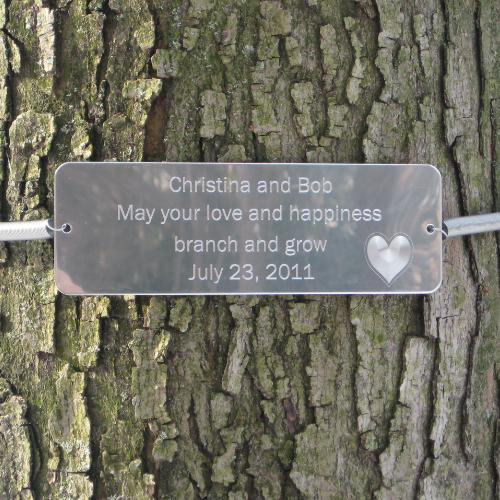 Tree Huggers® Tree Plaques - Personalized up to 5 LINES - Click Image to Close
