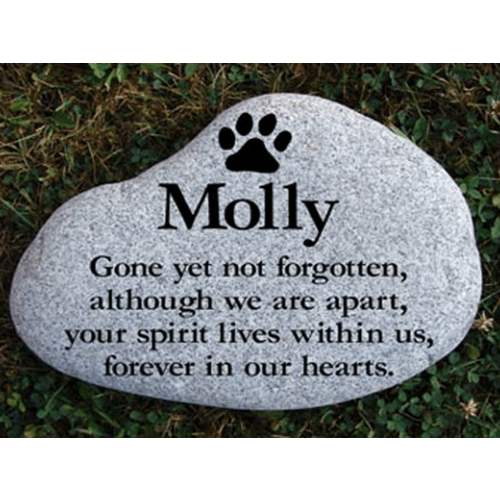 Pet Garden Memorial Stone, Extra Large. Personalized