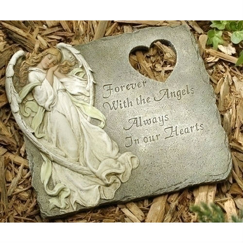 Always in our Hearts Angel Garden Memorial Stone BEST SELLER JS