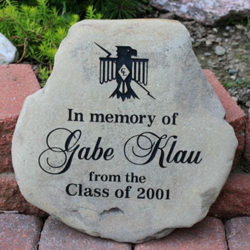 a custom engraved garden memorial stone medium personalized km rr