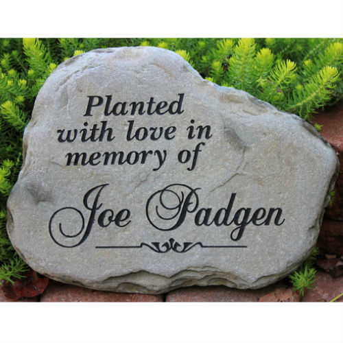 Sympathy Stones For The Garden A custom engraved garden memorial stone medium personalized km rr garden memorial stone medium personalized enlarge image workwithnaturefo
