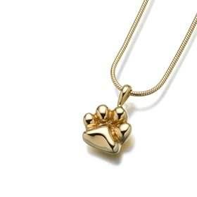 Paw Print Keepsake Necklace Gold Vermeil MJ166GV 16000