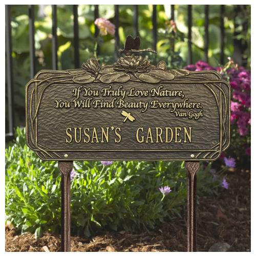 Dragonfly Nature Poem Garden Marker. Personalized [WH-1705 ...