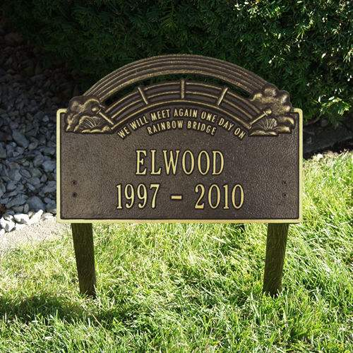 the rainbow bridge pet memorial markers pet grave markers pet