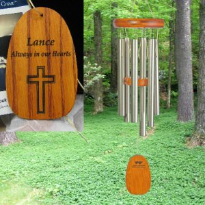 "Small ""100% PERSONALIZED"" Amazing Grace chime"