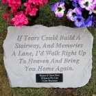 If Tears Could Build a Stairway Garden Stone. Personalized