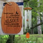 "Medium ""LOVE LEAVES A MEMORY"" Wind Chime. Personalized"