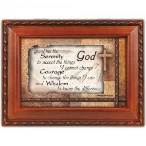 Serenity Prayer Music Memory Box (AMAZING GRACE)