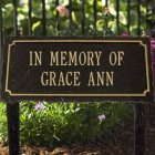 Garden Memorial Marker, 2 Lines. Personalized