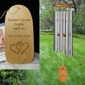 "Large ""WEDDING"" Wind Chime. Personalized"