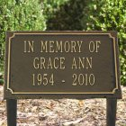 Garden Memorial Marker, 3 Lines. Personalized