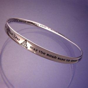 Irish Blessing Mobius Bracelet Sterling Silver Dvb