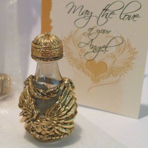 Angel Wings Tear Bottle & FREE Matching Tray - GOLD