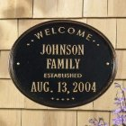 "Oval Wedding - Anniversary ""Family"" House Plaque. Personalized"