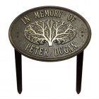 Great Oak Memorial Marker. Personalized