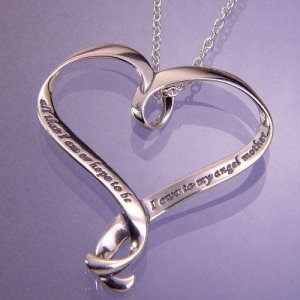 Angel Mother Heart Necklace - Sterling Silver (BEST SELLER)