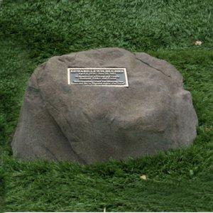 Memorial Rock W Bronze Plaque Personalized Rw Cg0912 845 00sympathy Gift Memorial