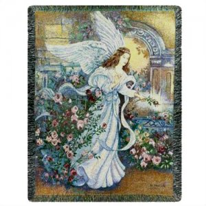 Angel of Love Woven Blanket Throw (BEST SELLER)
