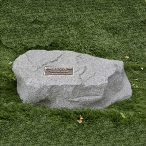 Memorial Rock w/ Bronze Plaque. Personalized