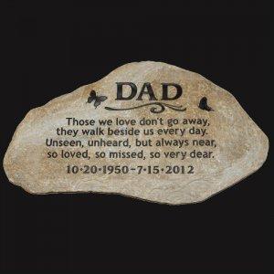 A Custom Engraved Garden Memorial Stone Large