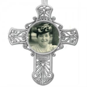 In Loving Memory Photo Cross Memorial Ornament