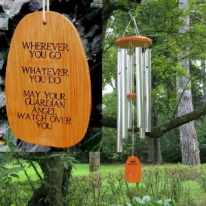 "Medium ""GUARDIAN ANGEL"" Amazing Grace Wind Chime - Personalized"