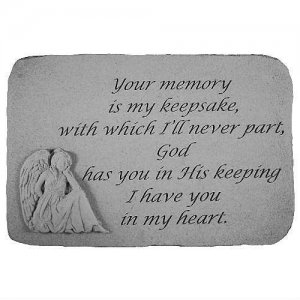 Your Memory is My Keepsake Garden Stone