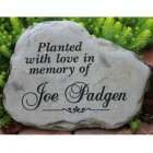 A Custom Engraved Garden Memorial Stone - MEDIUM Personalized