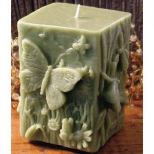 Butterflies and Dragonflies Luminary-Style Candle