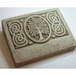 Celtic Tree Garden Memorial Stone. Personalized (2 Lines)