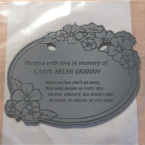 Tree Charm™ - FLOWER OVAL Shaped Those We Love Personalized