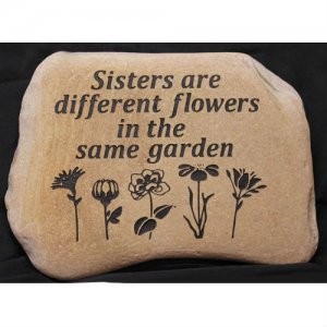 Custom Engraved Garden Stone. Personalized