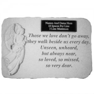 Those We Love Garden Stone. Personalized