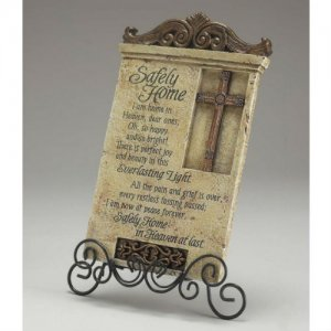 Safely Home Prayer Plaque with Stand