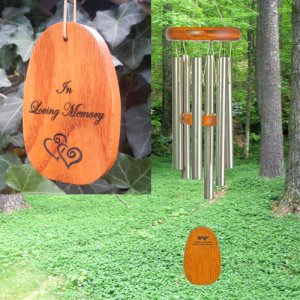 "Small ""IN LOVING MEMORY"" Amazing Grace chime"