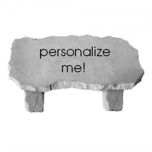 Personalized Garden Bench, Large
