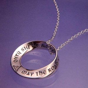 Irish Blessing Mobius Necklace - Sterling Silver