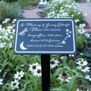May You Touch Dragonflies... Personalized Garden / Tree Marker