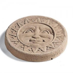 Sun Face Stepping Stone - Round