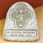 Celtic Angel Garden Memorial Stone. Personalized