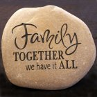 A Custom Engraved Garden Memorial Stone - SMALL Personalized