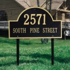 Arch Marker Estate Size Lawn Marker. Personalized