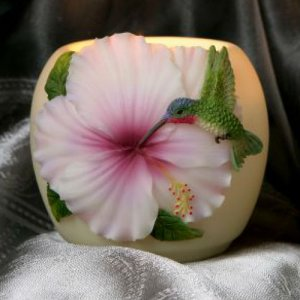 Hummingbird and Hibiscus Votive Memory Candle (BEST SELLER)