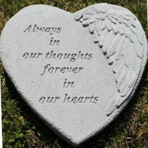 Forever in our Hearts Angel Wing Garden Stone