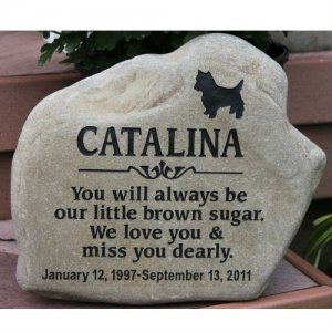 Custom Pet Garden Memorial Stone Personalized Km Rr Pet