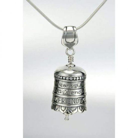 cece53d8660 Memorial Jewelry > Bell Necklaces - Sterling Silver. Friend Bell Necklace (BEST  SELLER) Enlarge Image