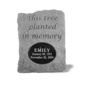 This Tree Planted Dedication Stone. Personalized