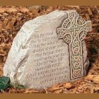 Celtic Cross Irish Blessing Garden Stone