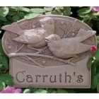 Berrybirds House Plaque. Personalized