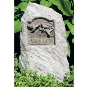 Hummingbird Welcome Stone
